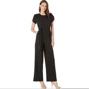 Calvin Klein Tulip Sleeve Tie Waist Jumpsuit 8 NWT